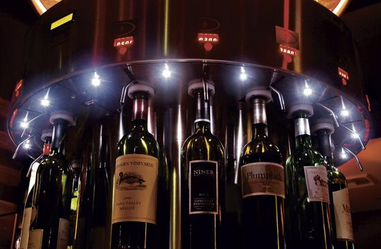 Pourtal Wine Bar allows guests to load money onto a wine card