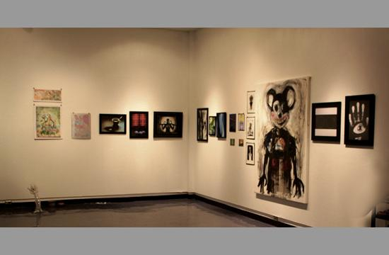 Some of the artworks that were part of the Homegrown Art Show and Sale at Samohi on Thursday.