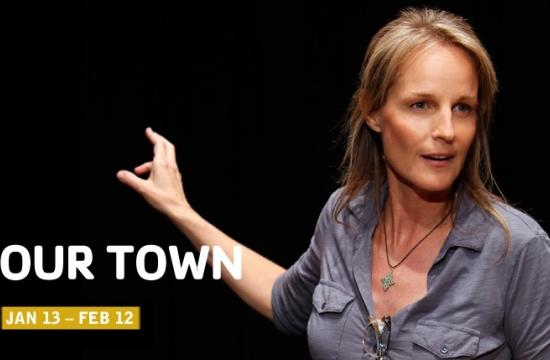 """Oscar winner Helen Hunt stars in the groundbreaking new version of Thornton Wilder's iconic American play """"Our Town"""" at The Broad Theater in Santa Monica  Jan. 13 through Feb. 12 (see details below)."""