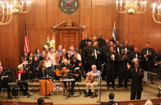 Beth Shir Shalom's Shabbat service celebrated on Martin Luther King Day.