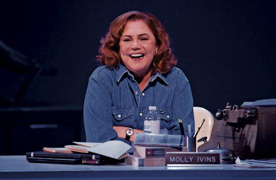 """Kathleen Turner as Molly Ivins in """"Red Hot Patriot: The Kick Ass Wit of Molly Ivins"""