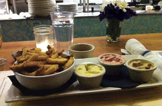 The Aioli trio is one of the dozens of dishes prepared by Chef Tim Morill.