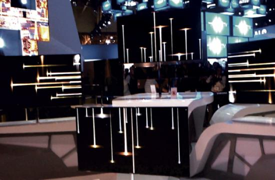 """The new 55"""" OLED TVs from Samsung at the Consumer Electronics Show in Las Vegas."""