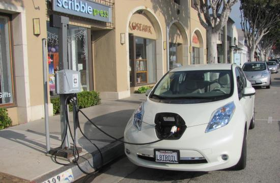 More EV charging stations will be installed around Santa Monica like this one on Montana Ave.