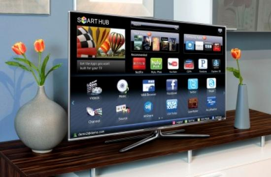A Samsung Smart TV.
