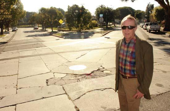 Bob Burket says he is sad to see the 1927 concrete at the intersection of Robson and Marine be resurfaced.