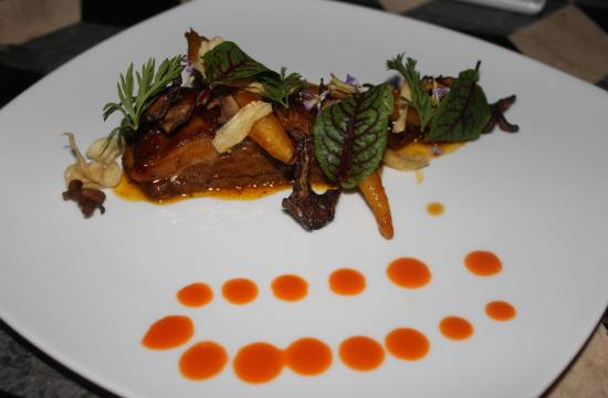 The Slow Braised Lamb Belly with baby carrots