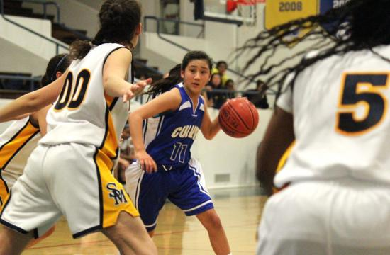 Culver City guard Taylor Tanita sets up the Lady Centaur offense against Samohi on Wednesday night.