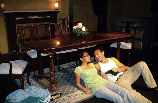 Edgardo Gonzales and Zahra Zaveri as Paul and Margery in Act I