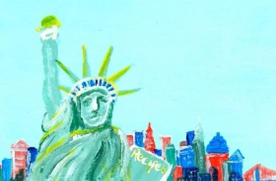 Just one of the more than 200 pieces of postcard-sized original art will be available for sale for $40.
