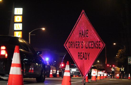 Santa Monica police held a DUI/Driver's License checkpoint on Friday