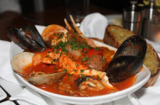 The Seafarer's Stew is a hearty tomato-based stew that has oysters