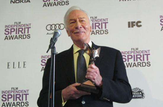 """Christopher Plummer took the Best Supporting Male prize for his work in """"Beginners."""""""