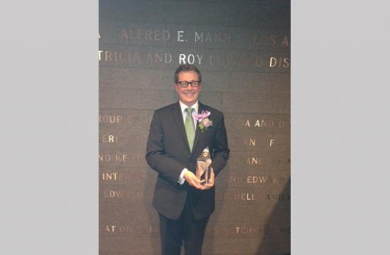 Jeffe Huls was named a winner of the Music Center's prestigious 30th Annual BRAVO Awards for 2012 at the Disney Concert Hall last week.