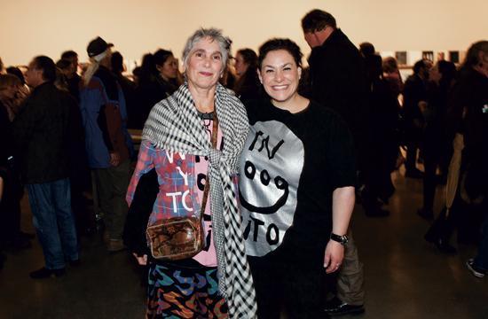 Santa Monica Museum of Art executive director Elsa Longhauser (left) with deputy director Lisa Melandri.