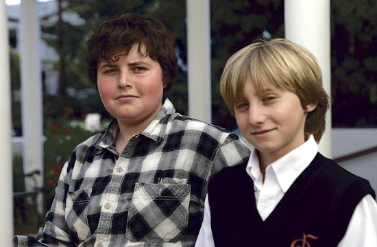 """Santa Monica teenager Gabriel Ziaukas (left) will conduct the original composition """"Dawn"""" created by another local teenager Joss Saltzman at the National Children's Chorus concert """"Journey of Song"""" at the Broad Stage tonight."""