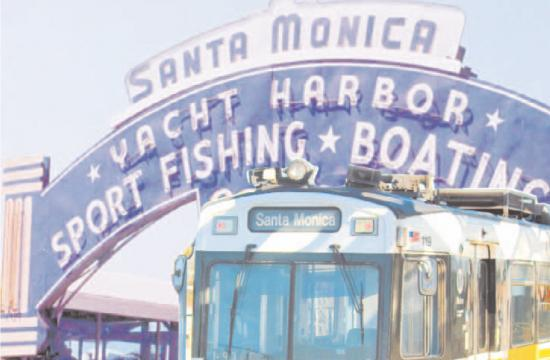 The rail system will be extended so that it ends right next to the Ferris wheel on the Santa Monica Pier.