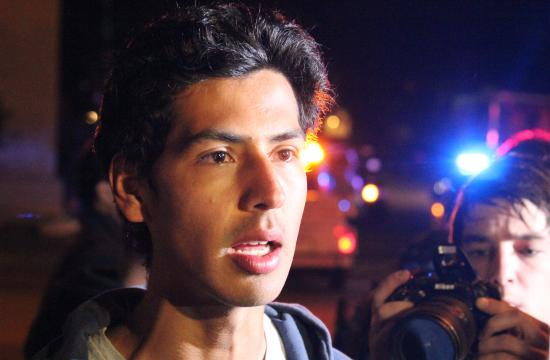 One of the students pepper sprayed by Santa Monica College police.
