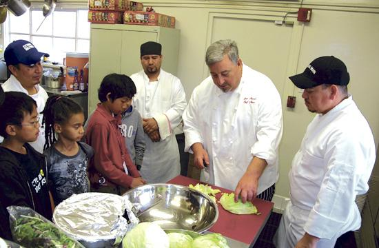 Chef Neno Mladenovic of Dan Tana's Restaurant gave SMBGC members a cooking lesson on Tuesday.