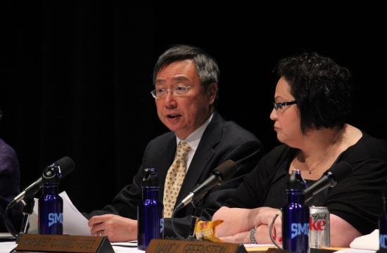 Santa Monica College President Chui L. Tsang recommended the Board of Trustees to postpone implementation of the two-tier plan into the college on Friday. The Board unanimously voted for the motion.