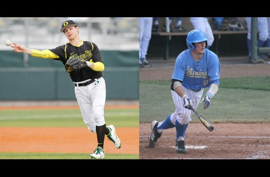 Brothers Scott Heineman (left) of Oregon and Tyler Heineman of UCLA faced each other for the first time this past weekend.