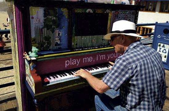 The Santa Monica Pier is home to one of 30 pianos across Los Angeles for the next  three weeks.
