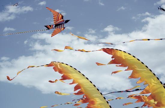 The first-ever Kite Festival flew in to Santa Monica on April 14 and 15 just north of the Pier. More than 1