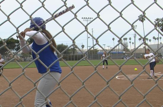 Samohi's Sara Garcia faces a Culver City batter in the Lady Vikings' 9-1 win over the Centaurs on Tuesday.