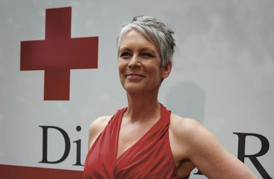 """Jamie Lee Curtis was awarded the """"Crystal Cross Humanitarian"""" Award by the American Red Cross at its Red Tie Affair gala at the Fairmont Miramar on April 21. Upon receiving the honor"""