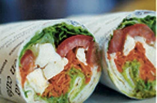 California Chicken Café's Combo or Primavera Wrap. To Die for!!!