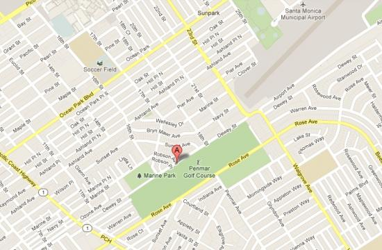 The shooting took place in the area of Robson and Dewey in Santa Monica at about 11:14 a.m. Sunday