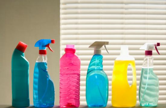 """Switch to cleaning products that have a list of recognizable ingredients and don't contain words like """"danger"""" or """"poison"""" on the label."""