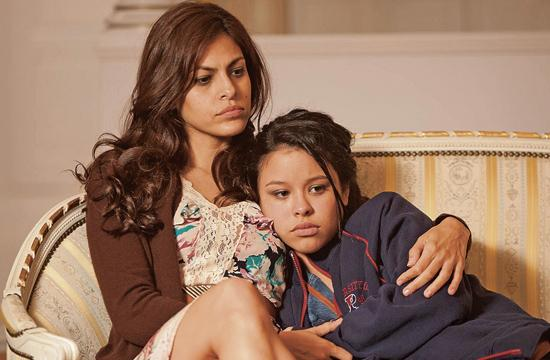 """Eva Mendes (left) and Cierra Ramirez as a troubled mother and daughter in """"Girl In Progress."""""""