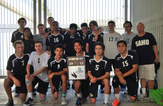The 2012 CIF Boys Volleyball Southern Section Div. 4 Runner-Up Samohi Vikings.