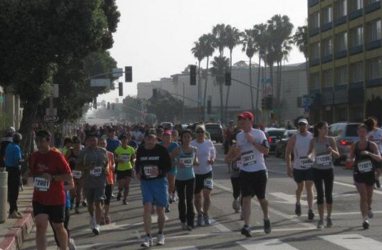 Thousands of runners participated in the 7th Annual Santa Monica Classic.