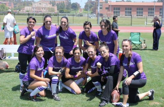 The Alzheimer's Association held a Blondes vs. Brunettes flag football game/ fundraiser on May 20 and some of the participants were from Santa Monica.