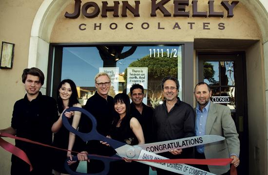John Kelly Chocolates celebrated its opening with a ribbon cutting ceremony. Pictured is Andreas Karlsson (from left)