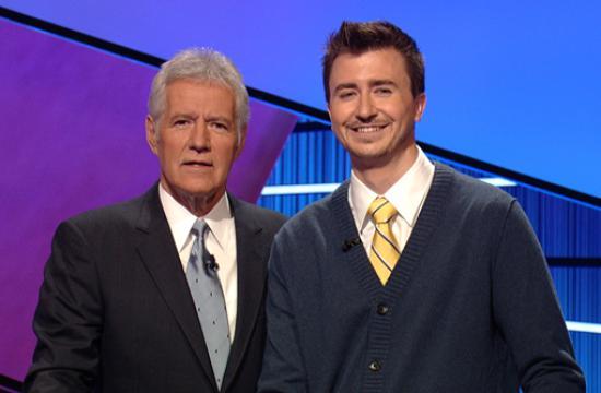 Ed Hanlon with host Alex Trebek.
