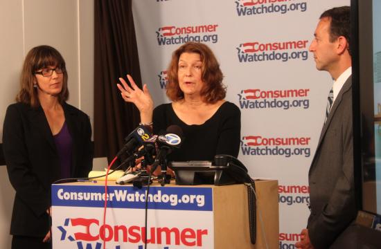 Consumer Watchdog's Litigation Director Pamela Pressley (from left)