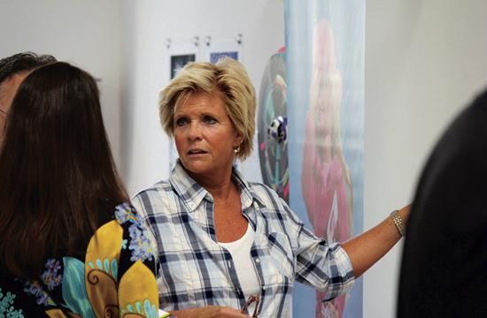 Meredith Baxter donated all of the proceeds from her artwork to the CLARE Foundation at the Art for CLARE fundraiser at Bergamot Station on Sunday.