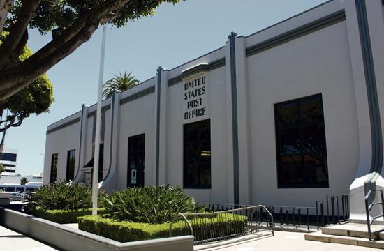 The Santa Monica Post Office at 1248 5th Street could be relocated to a location less than a mile away.