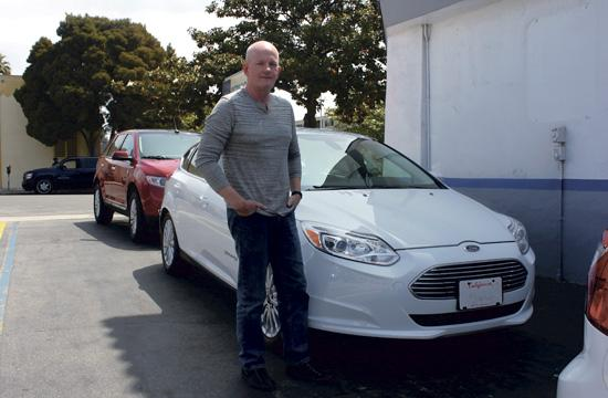 Michael Medlock recently traded in his 2011 Porsche Boxster for the 2012 Ford Focus Electric at Santa Monica Ford.