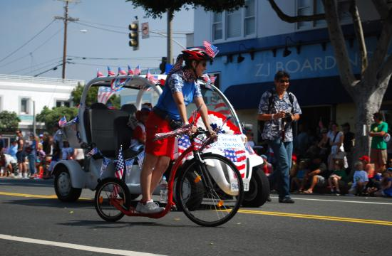 Santa Monica's 4th of July Parade returns to Main Street for the sixth year. This year's parade will feature several Grand Marshals who are all local science teachers.
