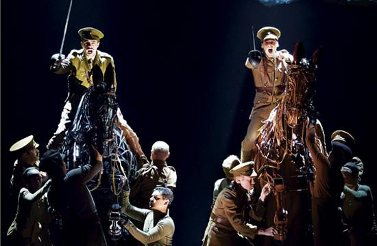"""War Horse"" is currently on stage at the Ahmanson Theatre."