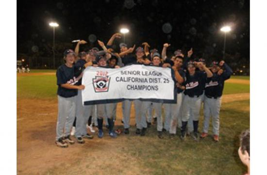 Santa Monica Little League Senior boys won the District 25 championship on Tuesday