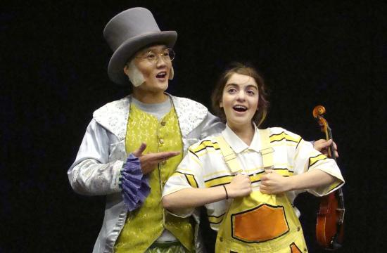 "Isaac Choi and Samantha Odeh in ""James and the Giant Peach"