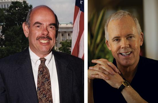 Incumbent Democrat Henry Waxman (left) and independent Bill Bloomfield race for the 33rd Congressional district.