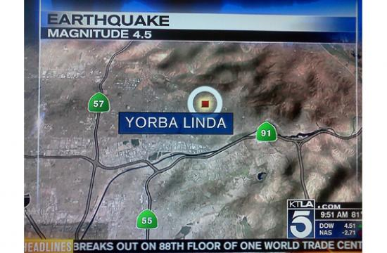 Two earthquakes struck have struck near Yorba Linda on Wednesday night and Thursday morning.