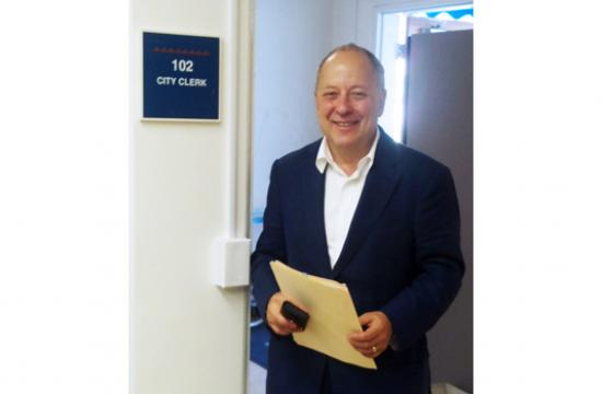 Frank Gruber filed his nomination papers on Monday