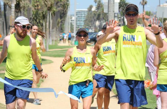 LA Marathon participants ran the 26 mile course on Aug. 12 from Dodger Stadium to Santa Monica to let people know about guided training with LA Roadrunners for the LA Marathon 2013.